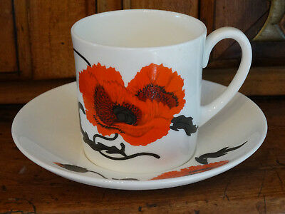 Wedgwood Cornpoppy Susie Cooper Design Cup and Saucer