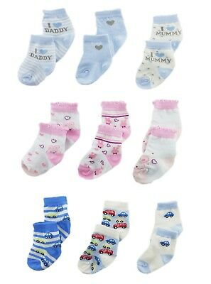 Fashion 3 Pairs Baby Boy Girl Cotton Cartoon Socks Toddler Kids Soft Sock