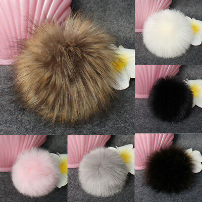 Faux Raccoon Fur Hair Huge Ball Fluffy Pompom Hat Bag Shoses Accessory H-M