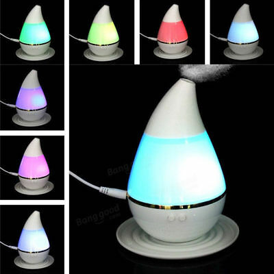 LED 7 Colors Ultrasonic Aroma Humidifier Air Aromatherapy Essential Oil Diffuser