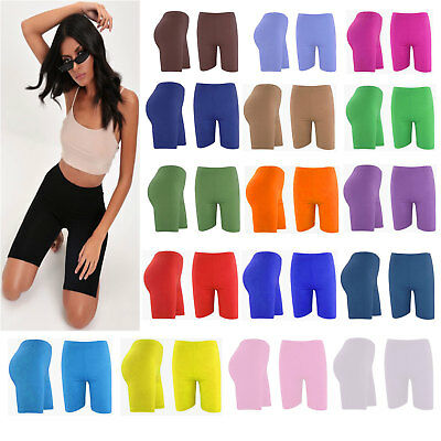 Women's Ladies Lycra Cycling Shorts Dancing Leggings Active Casual Shorts 8-28
