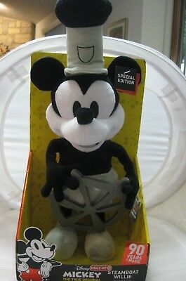 Disney Steamboat Willie Mickey Mouse Singing Dancing Plush Target 90th Birthday