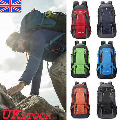 40L Sports Mountaineering Bag Backpack Outdoor Hiking Bags Camping Climbing Mens