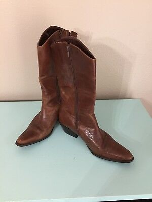 7eb4201f88f MATISSE WOMEN'S BROWN Leather Western Cowboy Cowgirl Boots - Size 9 ...