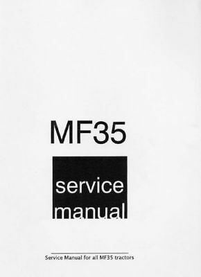 Massey Ferguson 35 MF35 Tractor Workshop Service & Repair Manual (0017)