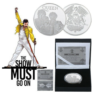 WR Freddie Mercury Queen Rock & Pop Silver Plated Coin In Box Music Fans Gift