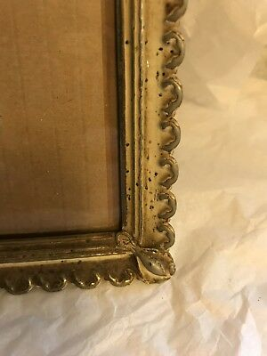 Vintage Metal White Wash Lacey Embossed 8 X 10 Picture Frame Shabby Sheek Ornate