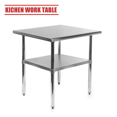 Catering Table Commercial Stainless Steel Work Bench Kitchen Prep Worktop  2x2FT