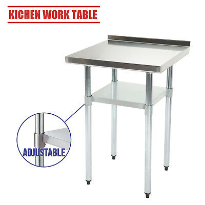 2x2FT Stainless Steel Work Table Bench Catering Prep Worktop with Backsplash