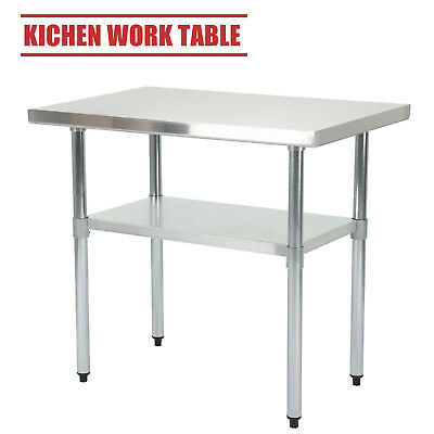 Stainless Steel Commercial Catering Table Food Prep Work Bench Kitchen  2x3FT