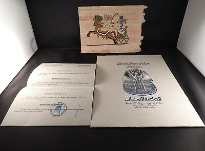 Unframed Authentic Hand Painted Egyptian Papyrus Ramses II on Chariot