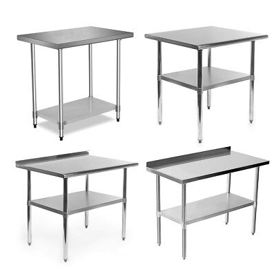 Commercial Stainless Steel Catering Table Work Bench Kitchen Food Prep Worktop