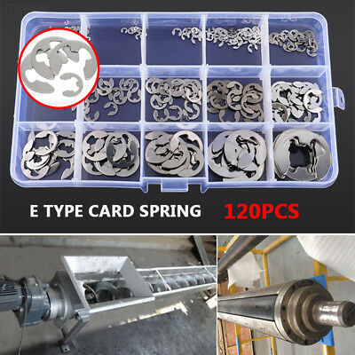 DEBB E Type Circlip Stainless Steel Silver Mechanical Industry Spring Washer