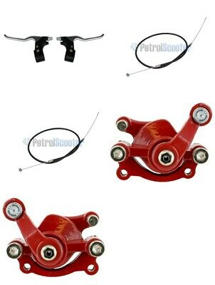 Mini Moto Dirtbike Dirt Bike Red Brake Calliper Levers Minimoto Dirt Bike 49cc