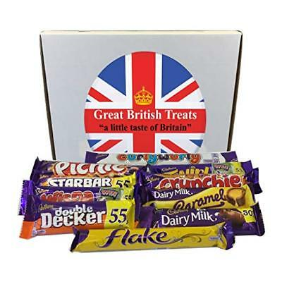Cadbury Selection Box of 10 Full Size British Chocolate Bars by Cadbury