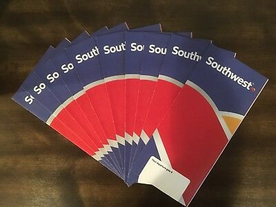 (10) Southwest Airlines Ticket Jackets- New!