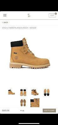 c19525f69236 Brand New OVO X Timberland Sold Out Octobers Very Own Wheat 6-inch Boots