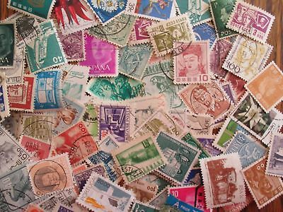 100 Assorted Worldwide Stamps, All Different, Used Off Paper Some Older Stamps