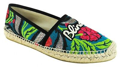 d8958f01edb Gucci Multicolor Embroidered Canvas Pilar Blind For Love Espadrille Flats