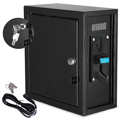 Coin Operated Timer Control Electric Coin Slot Meter With 2 Keys Power Supply