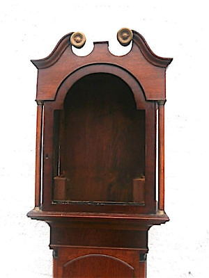 EARLY oak +MAHOGANY  LONGCASE CLOCK  case for a  13x18+1/4  inch dial C1840