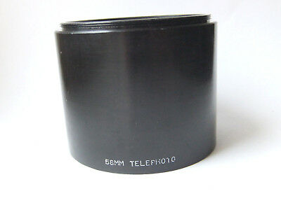 58mm metal telephoto lens hood