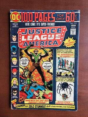 Justice League Of America #112 (1974) 5.5 VG DC Key Issue Bronze Age 100 Pg