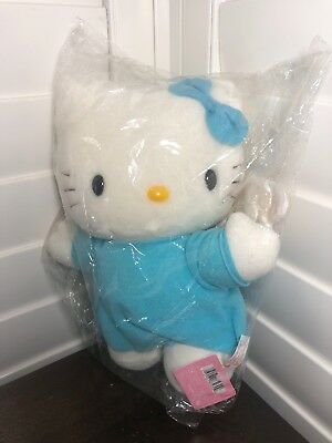New! BIG! Sanrio Smiles Hello Kitty Angel Doll Plush Blue Dress With Wings