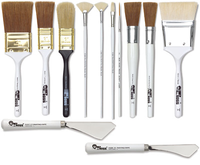 Bob Ross Landscape Oil Painting Brushes And Painting Knifes (COMBINED POSTAGE)