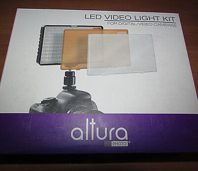Altura Photo 160 LED Video Light for DSLR Camera and Camcorder Complete Kit –