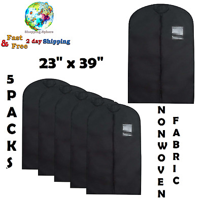 5 Pack Garment Suit Travel Bag Storage Dress Coat Travel Clothes Cover Protector