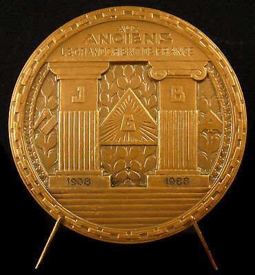 Medal Grand Orient French Franc Masonry Jacques Zamponi Rising Sun