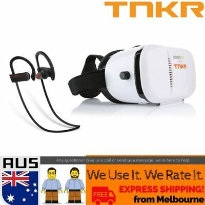 Virtual Reality Headset VR Box 3D Glasses + HD Audio + BT Remote TNKR Bobo Z3