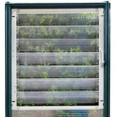 Greenhouse Side Louver Window HG1032 by RION
