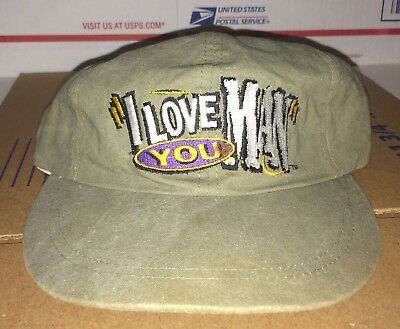 I LOVE YOU MAN Novelty Bud Light Budweiser vintage 1990s Hat BEER Cap Anheuser !