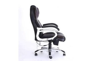 Office Computer Desk Massage Chair Westwood 6 Point Black And Brown Luxury Heat