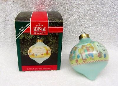 "Betsey Clark Hallmark ""Betsey's Country Christmas"" Ornament 1992 Glass Box"