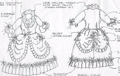 """20""""FRENCH FASHION DOLL@1700's MARIE ANTOINETTE QUEEN DRESS/SKIRT-BODICE PATTERN"""