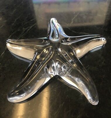 Baccarat Crystal Starfish Paperweight Figurine Made in France