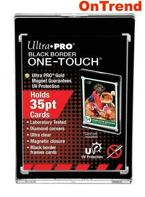 Ultra Pro UV ONE TOUCH Black Boarder 35pt Magnetic Closure Card Protector