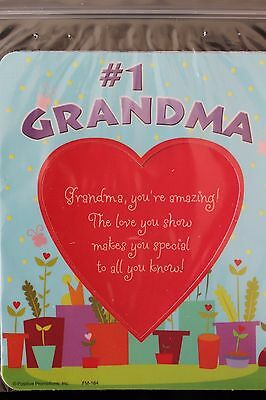 Magnetic 2-piece Photo Frame - Fridge Decor #1 GRANDMA - Brand NEW!  LOT of 2