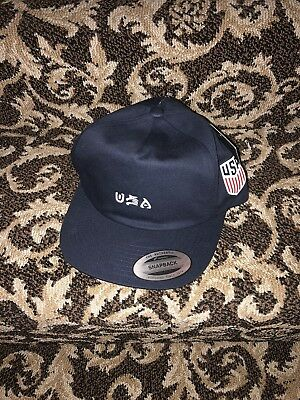 802102e3e1f ... coupon for navy blue hurley usa national team soccer snapback cap hat  nwt 28a8c 862a9