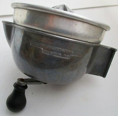 VTG 1960s DAZEY SUPER JUICER Churn and MFG Co USA Manual Hand Crank Aluminum