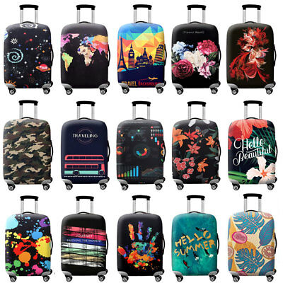 "18"" -32"" Printed Luggage Suitcase Protector Elastic Dustproof Cover Anti Scratch"