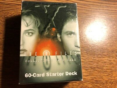1996 X-Files Collectible Card Game 60 Card Starter Deck Set Factory Sealed