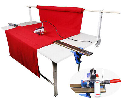 """Fabric Cloth Cutter w/86.6""""(220cm) Rack and Digital Counter Clothing Tool"""