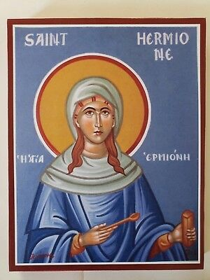 Martyr Hermione the Daughter of St Philip the Deacon, icon, size 7, 4/16x9, 4/16