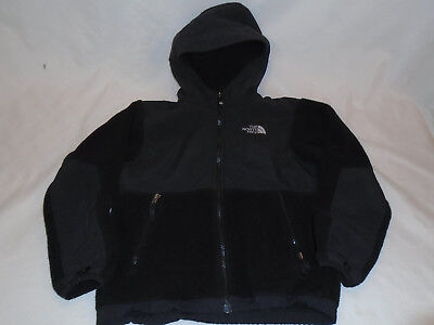 The North Face Denali Hooded Fleece Jacket Black Size Youth M 10/12