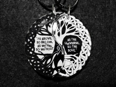Friendship Necklaces,As Above so Below Tree of Life,Yin Yang, Anniversary,BFF