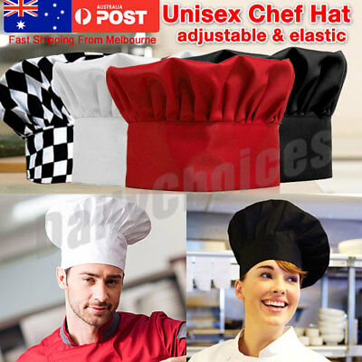 Men Women Adult White Kitchen Cooking BBQ Restaurant Baker Chef Hat Cap prop